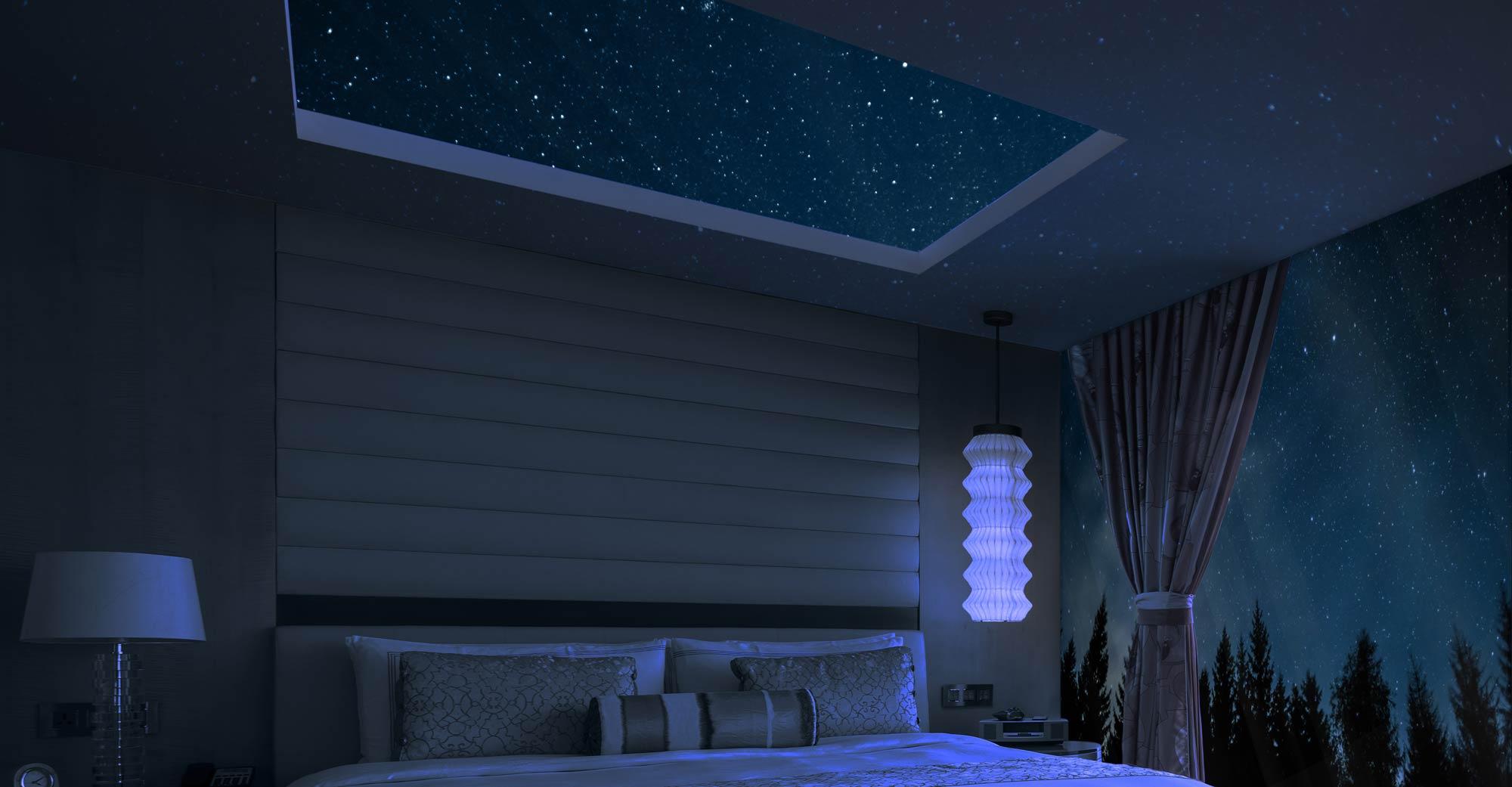 Smart Alternative Reality Area by night